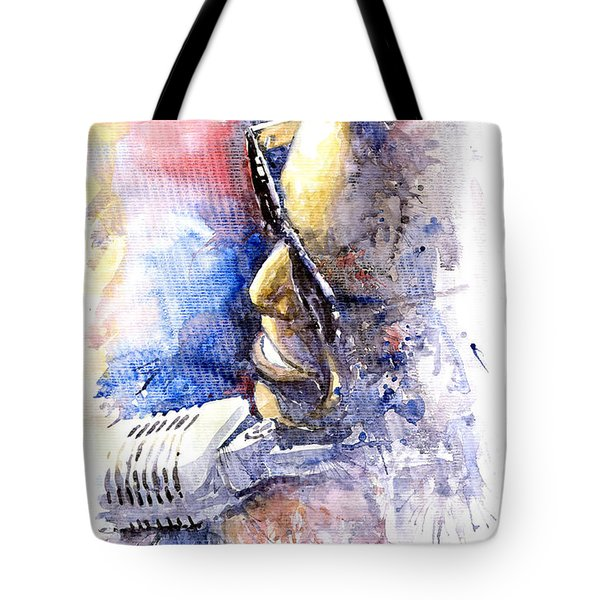 Jazz Ray Charles Tote Bag by Yuriy  Shevchuk
