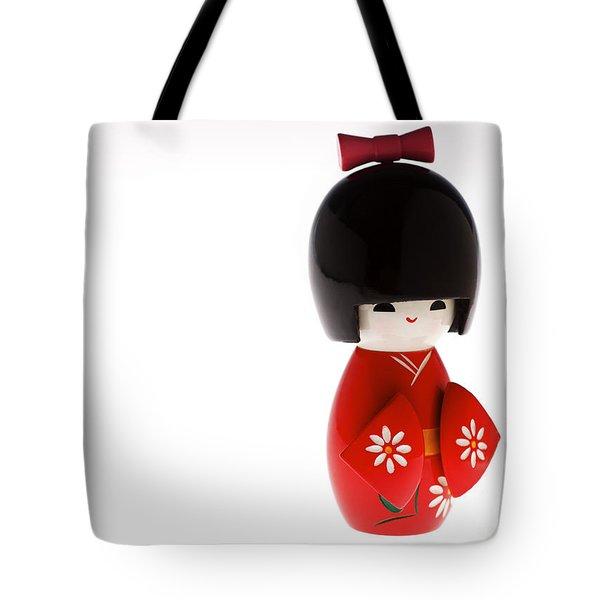 Kokeshi Doll Tote Bag by Larry Dale Gordon - Printscapes