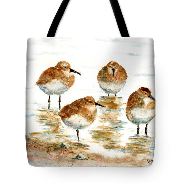 4 Little Pipers Tote Bag by Marsha Elliott