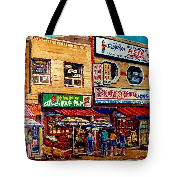 Montreal Paintings Tote Bag by Carole Spandau
