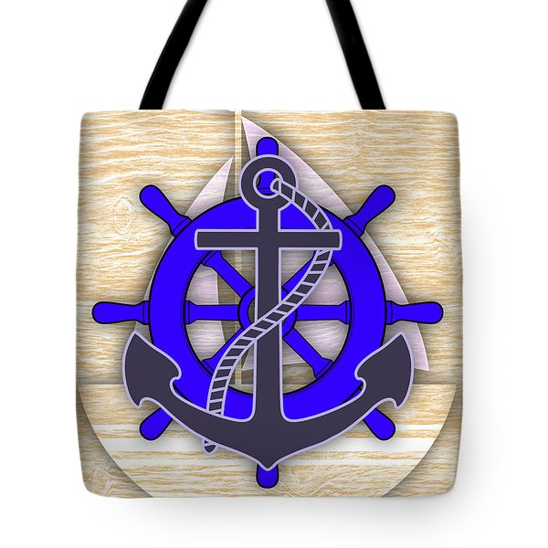 Nautical Collection Tote Bag by Marvin Blaine