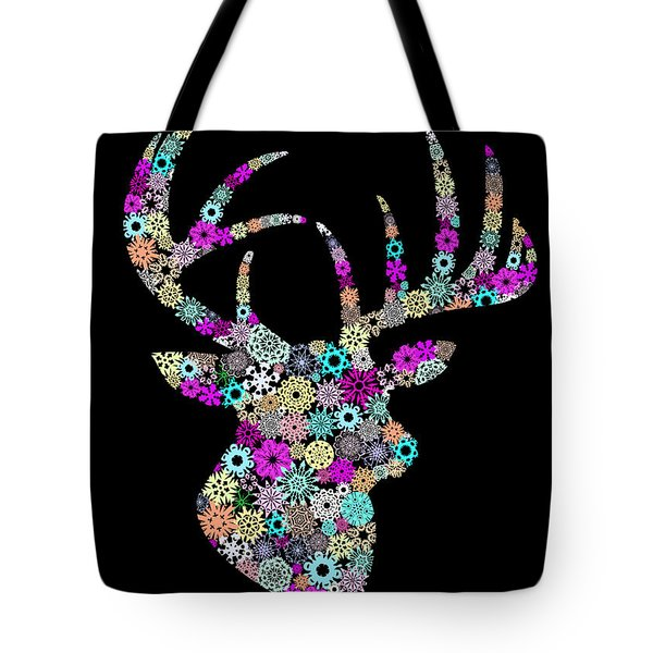 reindeer design by snowflakes Tote Bag by Setsiri Silapasuwanchai