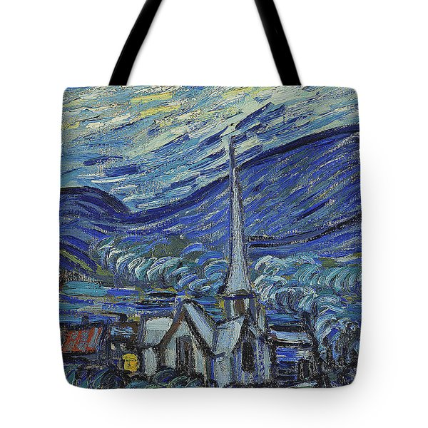 The Starry Night Tote Bag by Vincent van Gogh