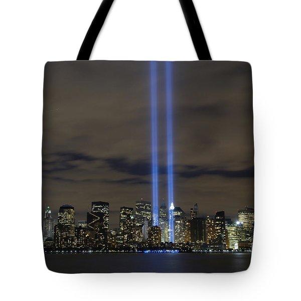 The Tribute In Light Memorial Tote Bag by Stocktrek Images