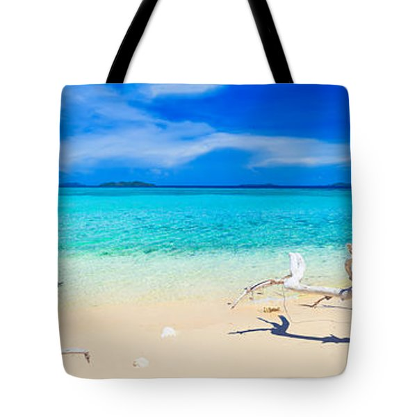 Tropical beach Malcapuya Tote Bag by MotHaiBaPhoto Prints