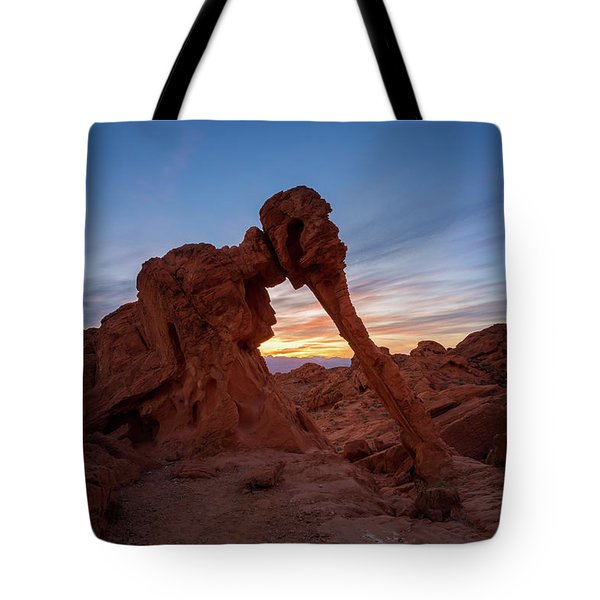Valley Of Fire S.p. Tote Bag by Jon Manjeot