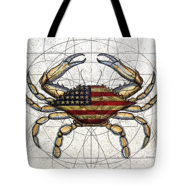 4th Of July Crab Tote Bag by Charles Harden
