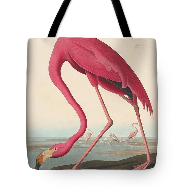 American Flamingo Tote Bag by John James Audubon