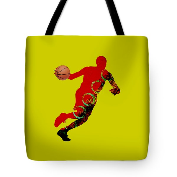 Basketball Collection Tote Bag by Marvin Blaine