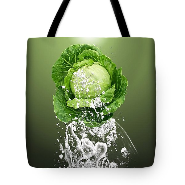 Cabbage Splash Tote Bag by Marvin Blaine