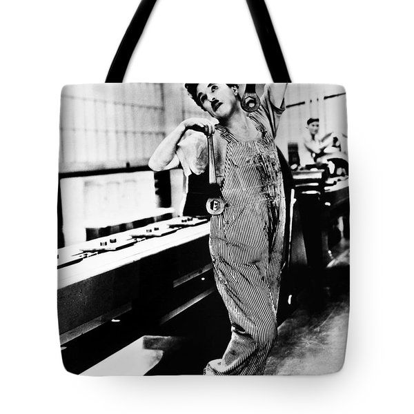 Chaplin: Modern Times, 1936 Tote Bag by Granger