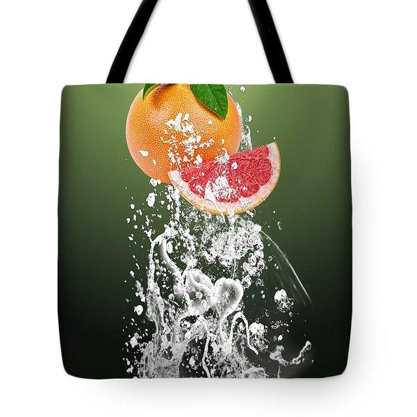 Grapefruit Splash Tote Bag by Marvin Blaine