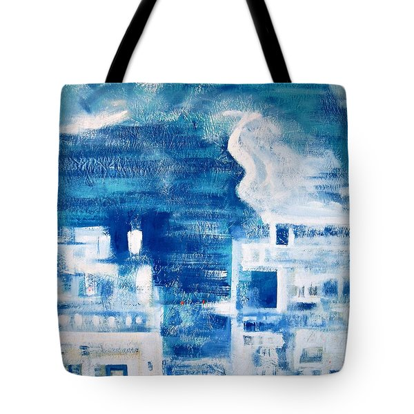 Les Deux Balcons Tote Bag by Contemporary Luxury Fine Art