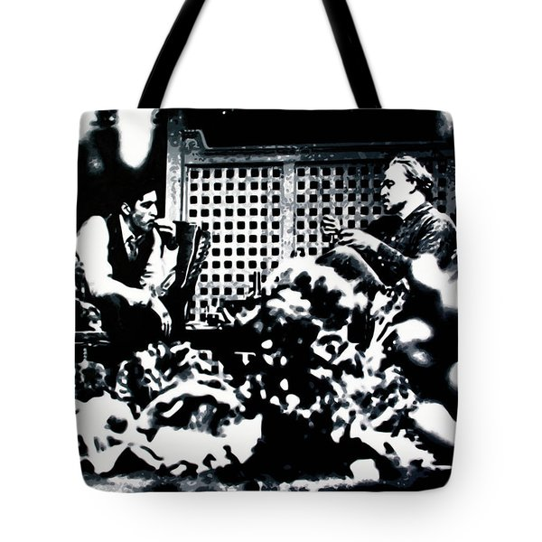 The Godfather Tote Bag by Luis Ludzska