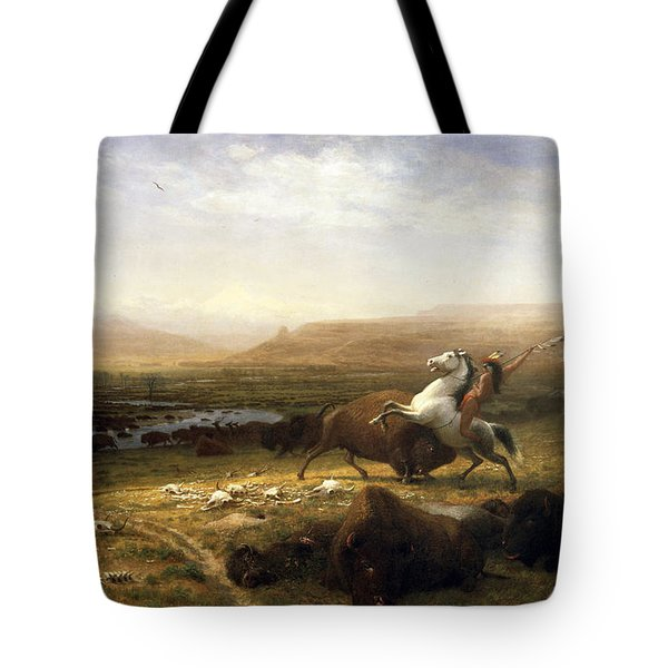 The Last Of The Buffalo  Tote Bag by Albert Bierstadt