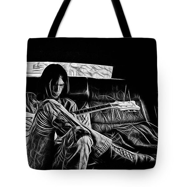 Neil Young Collection Tote Bag by Marvin Blaine