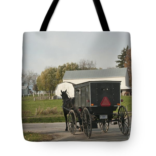 Amish Buggy Tote Bag by David Arment