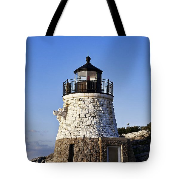 Castle Hill Lighthouse Tote Bag by John Greim