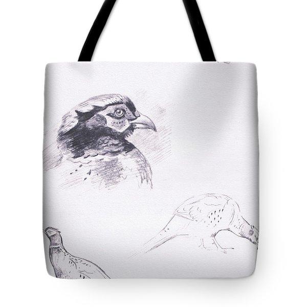 Pheasants Tote Bag by Archibald Thorburn