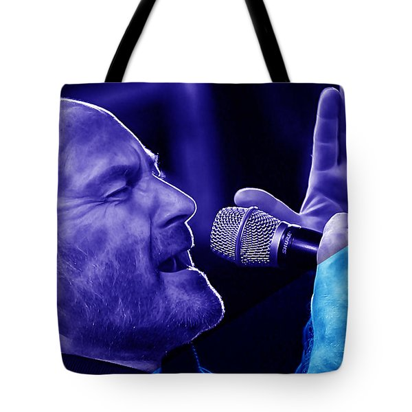 Phil Collins Collection Tote Bag by Marvin Blaine