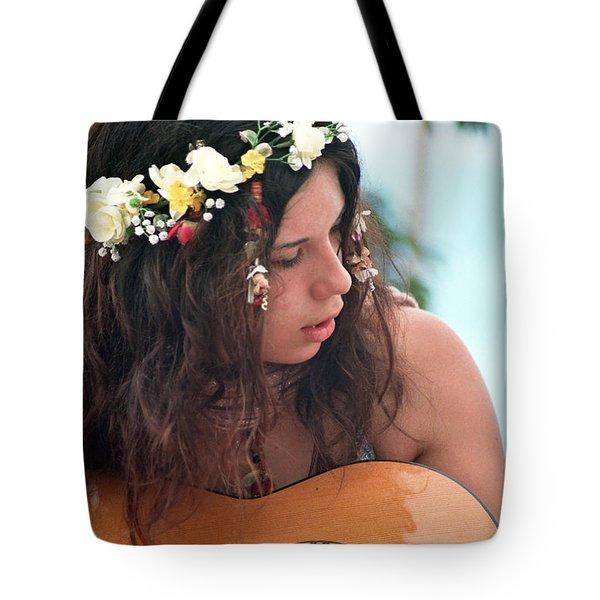 60's Flower Girl Tote Bag by Ilan Rosen