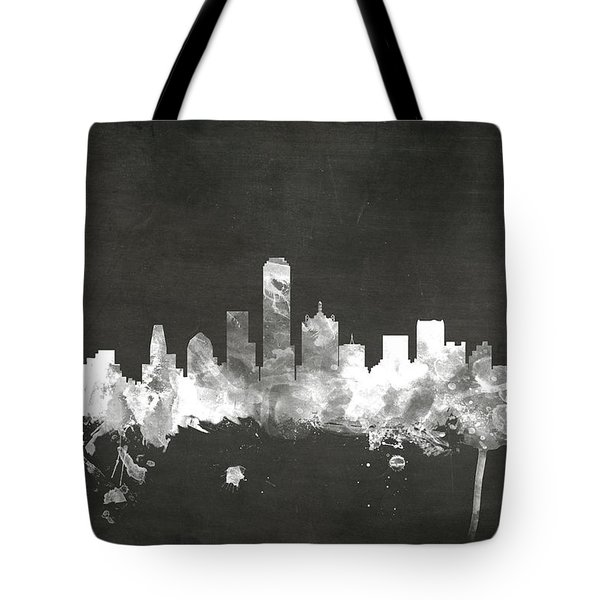 Dallas Texas Skyline Tote Bag by Michael Tompsett