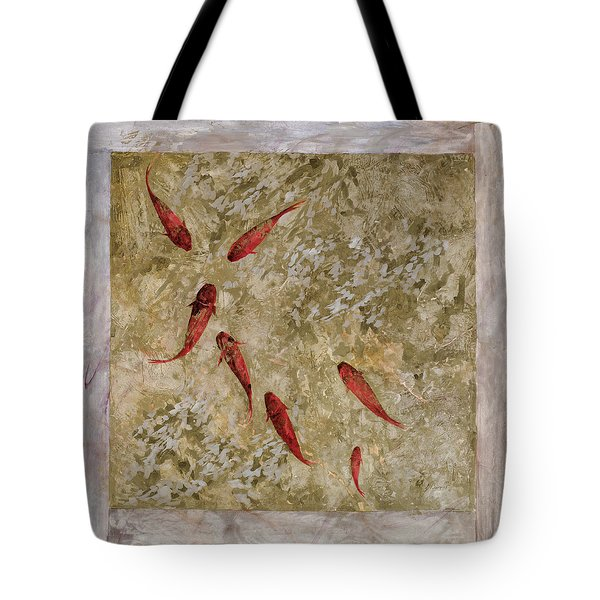 7 Pesci Rossi E Oro Tote Bag by Guido Borelli