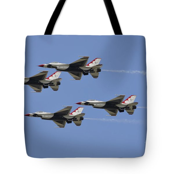 The U.s. Air Force Thunderbirds Fly Tote Bag by Stocktrek Images