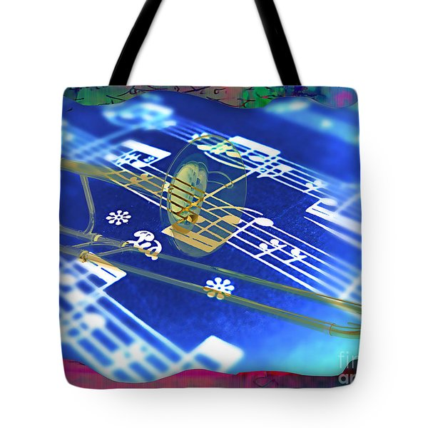 Trombone Collection Tote Bag by Marvin Blaine