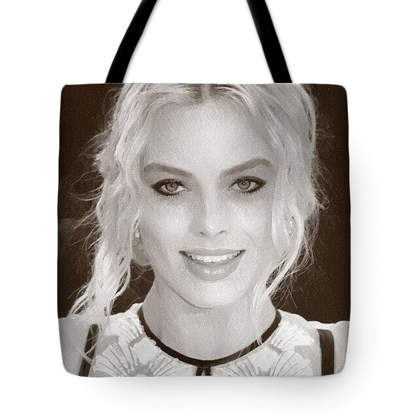 Actress Margot Robbie Tote Bag by Best Actors