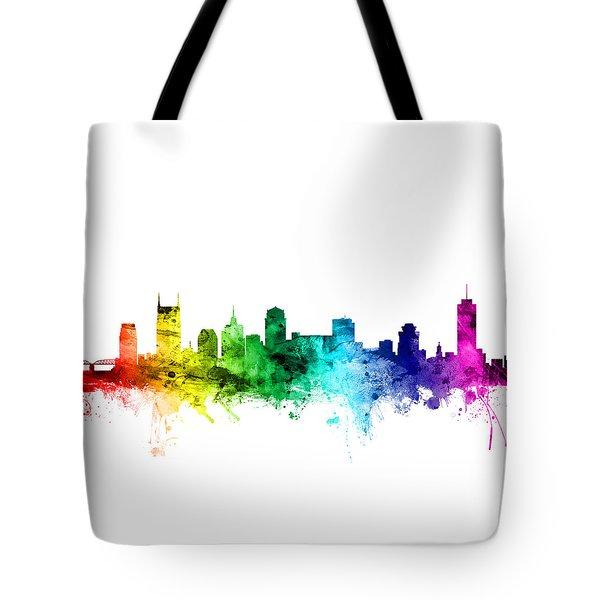 Nashville Tennessee Skyline Tote Bag by Michael Tompsett
