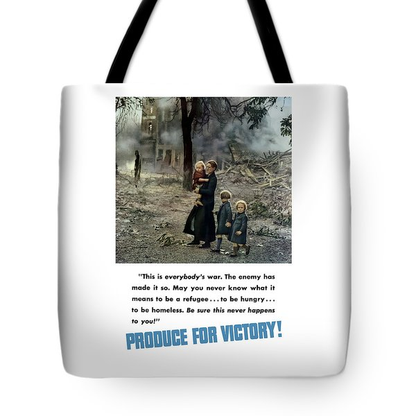 Produce For Victory Tote Bag by War Is Hell Store