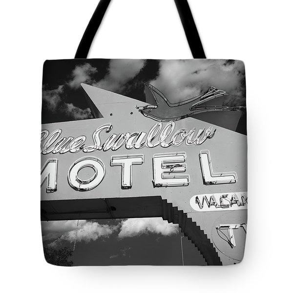 Route 66 - Blue Swallow Motel Tote Bag by Frank Romeo