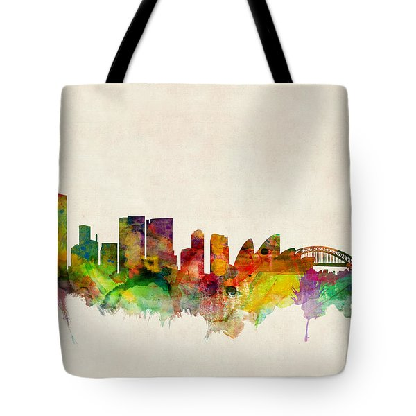 Sydney Australia Skyline Tote Bag by Michael Tompsett