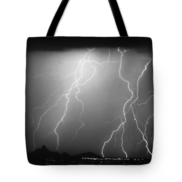 85255 Black and White Tote Bag by James BO  Insogna
