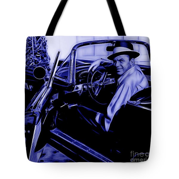 Frank Sinatra Collection Tote Bag by Marvin Blaine