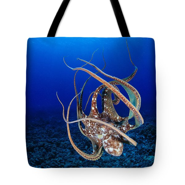 Hawaii, Day Octopus Tote Bag by Dave Fleetham - Printscapes