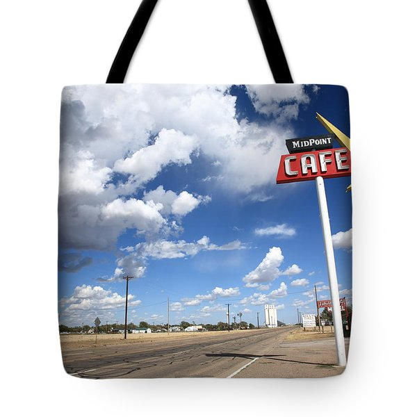Route 66 Cafe Tote Bag by Frank Romeo
