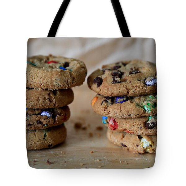 A Balanced Diet Is A Cookie In Each Hand Tote Bag by Tracy Hall