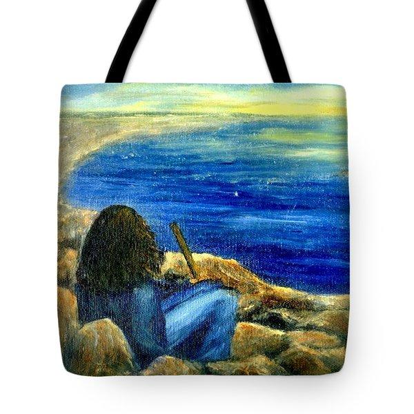 A Blue Day Tote Bag by Gail Kirtz