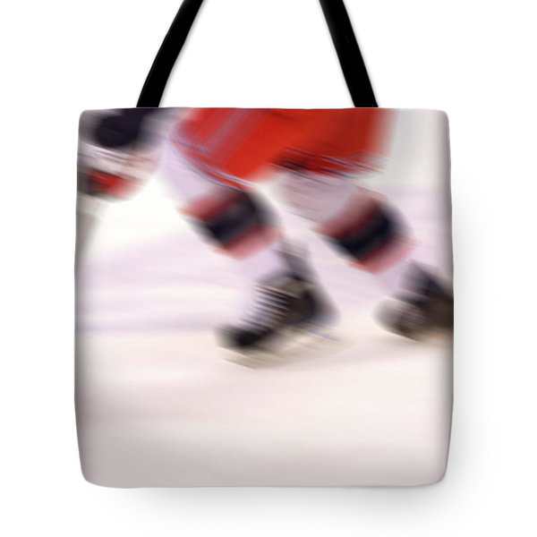 A Blur Of Ice Speed Tote Bag by Karol  Livote
