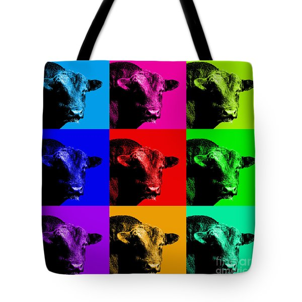 A Bunch of Bull Tote Bag by Wingsdomain Art and Photography