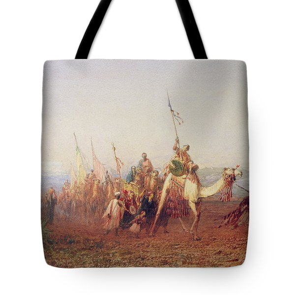 A Caravan On The Way To Cairo Tote Bag by Felix Ziem