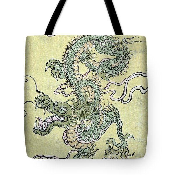 A Chinese Dragon Tote Bag by Chinese School