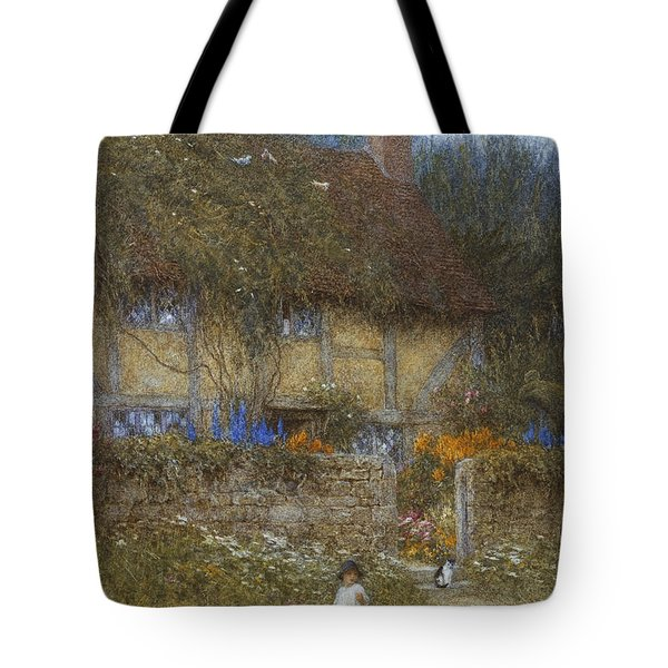 A Cottage Near Godalming Surrey Tote Bag by Helen Allingham