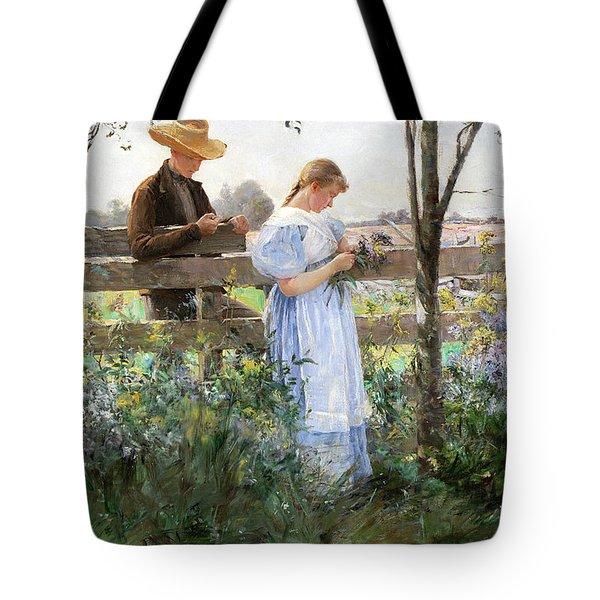 A Country Romance Tote Bag by David B Walkley