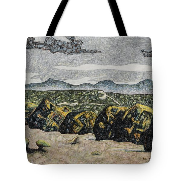 A Couple Of Clouds Tote Bag by Dale Beckman
