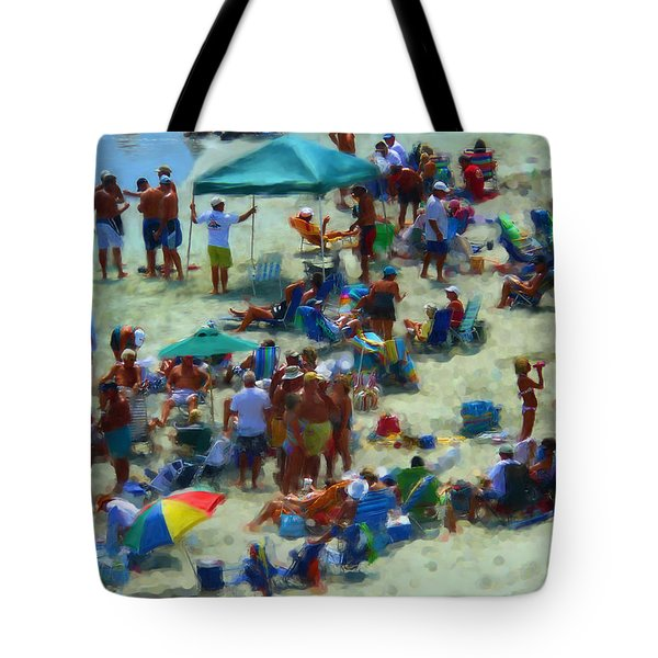 A Day At The Beach Tote Bag by Jeff Breiman