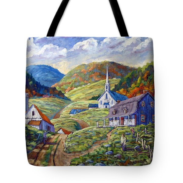 A Day In Our Valley Tote Bag by Richard T Pranke