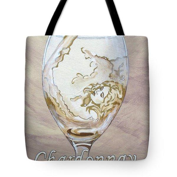 A Day Without Wine - Chardonnay Tote Bag by Jennifer  Donald